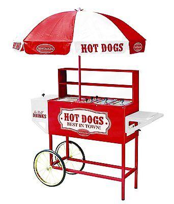 Nostalgia Electrics Hdc701 Vintage Collection Commercial Hot Dog Cart Umbrella