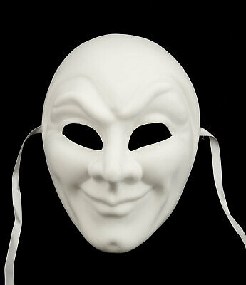 Mask from Venice White with Paint Joker Mixed Adult Carnival Venetian 104