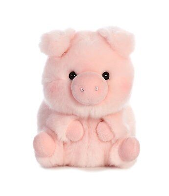 Prankster Pig Rolly Pet 5 inch - Stuffed Animal by Aurora Plush - Pig Stuffed Animal
