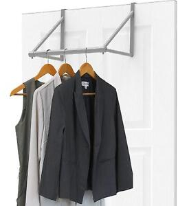 Over The Door Clothes Hanging Bar Rack Valet Hanger E Saver Hook Organizer