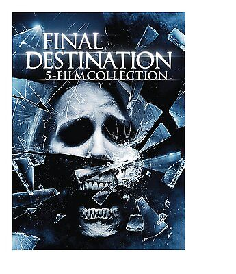 Final Destination Collection 1 2 3 4 5 DVD Set Film Movie Horror Scary Lot