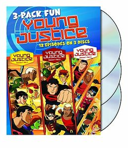 YOUNG JUSTICE - COMPLETE SEASON 1  (3 Disc) -  DVD - UK Compatible - sealed