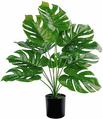 """Artificial Palm Tree- 21.6""""Tall Large Fake Plant in Pot for Indoor and Outdoor"""