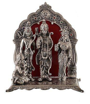 Ram Laxman (Silver Plated Ram Darbar Hanuman Ram Sita Laxman Statue Idol Handmade Spiritual)