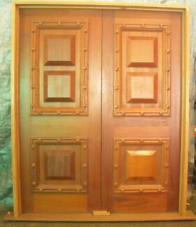 Cedar Timber Mediterrainean Entry Doors, 2110h X 1700w