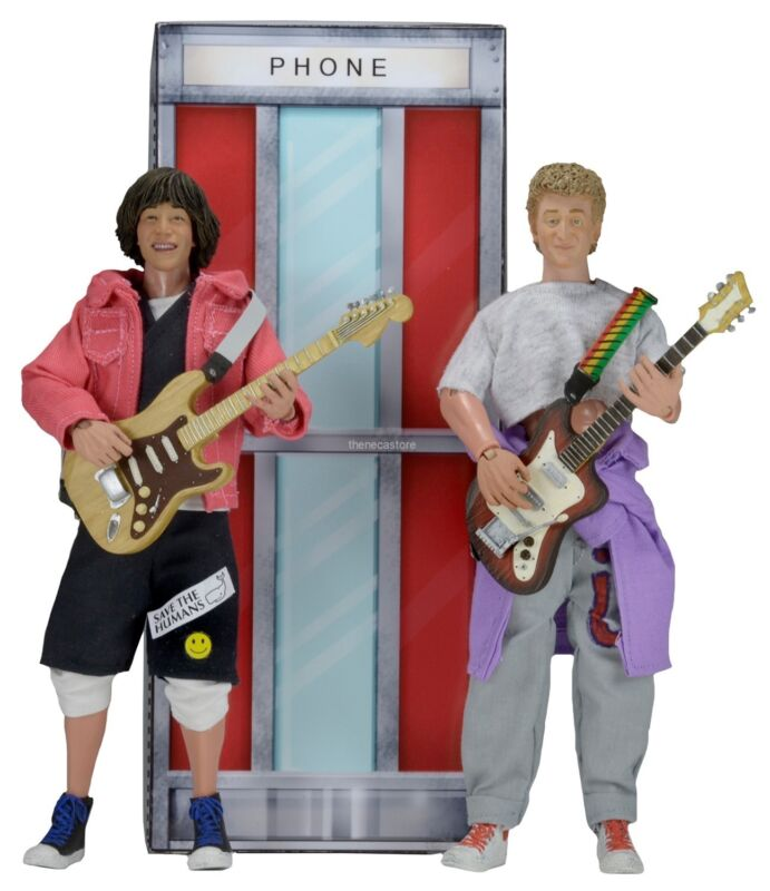 """Bill & Ted's Excellent Adventure – 8"""" Clothed Figure – Bill & Ted 2 Pack - Neca"""