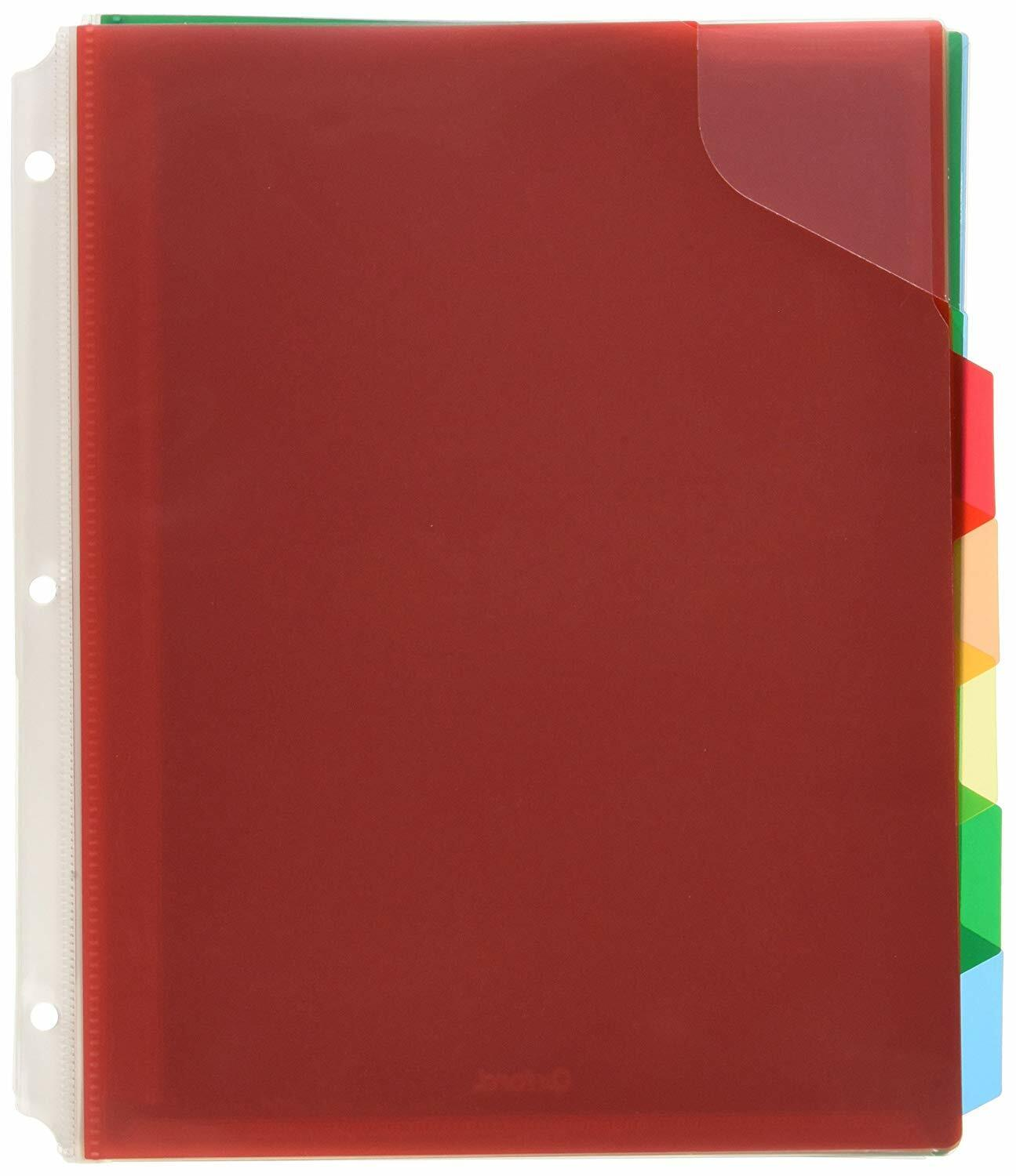 Esselte Oxford Full Pocket Plastic Tab Dividers, 5 Tab, Lett
