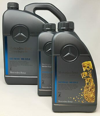 7 Liter Original Mercedes Benz MB 229.5 5W-40 5W40 Motoröl Motorenöl NUR 5,42€/L