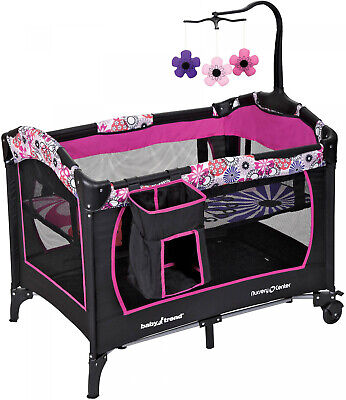 - Pink Baby Nursery Play Yard And Sleep Center Compact Pink