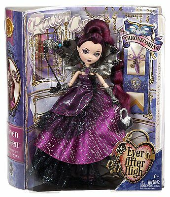 """Ever After High """"Thronecoming"""" Series ~ RAVEN QUEEN DOLL ~ MATTEL"""