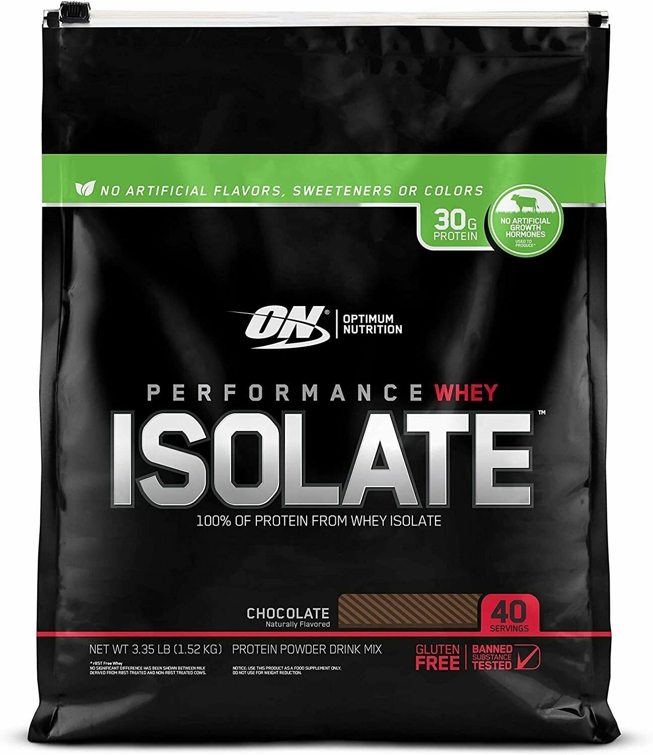 Optimum Nutrition Performance Whey Isolate Protein Chocolate