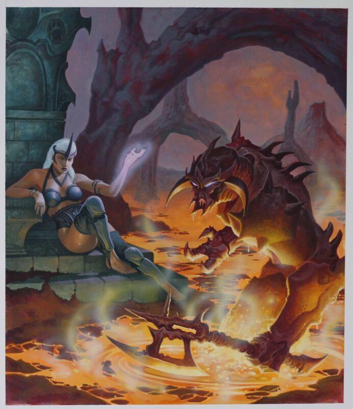 JOHN ZELEZNIK BOOK COVER PAINTING EARTHDAWN MAGIC: A MANUAL OF MYSTIC SECRETS