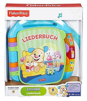 Mattel Kinder Fisher-Price Liederbuch Wörter Lernspaß Buchstaben Zahlen NEU
