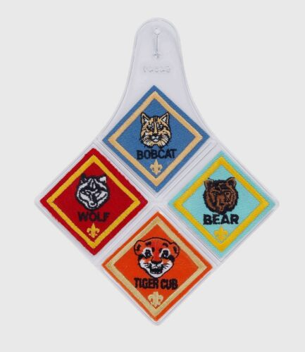 1 Official Boy Girl BSA Cub Scout Rank Patch Diamond Emblem Holder ( no sewing )
