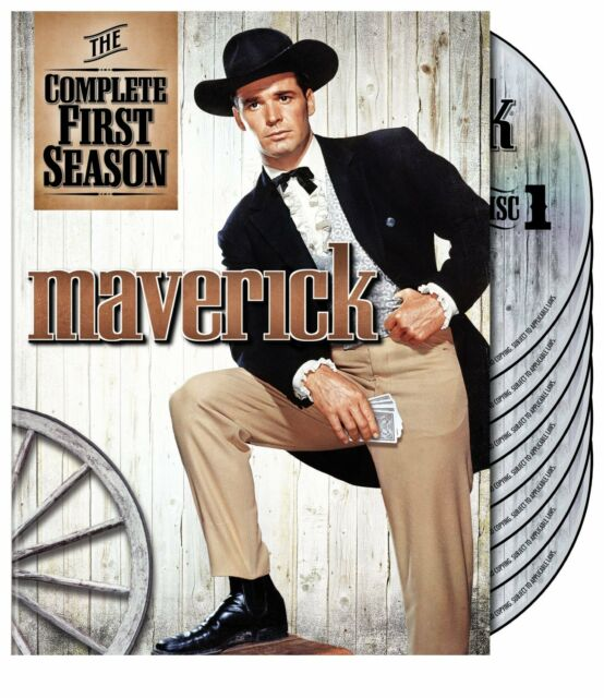 MAVERICK - COMPLETE SEASON 1 (James Garner)  - DVD - UK Compatible