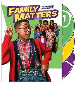FAMILY MATTERS - COMPLETE THIRD SEASON 3 DVD 3 DISCS NEW/SEALED R4 STEVE URKEL