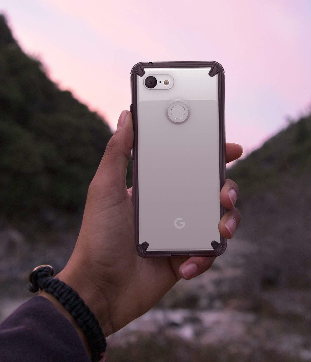 For Google Pixel 3 | Ringke® [FUSION] Clear PC Shockproof TPU Bumper Cover Case
