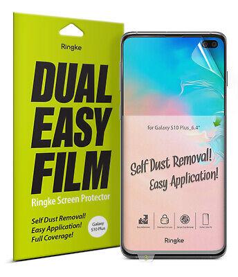 Samsung Galaxy S10 Plus Screen Protector Ringke [Dual Easy Full Cover] Film 2pcs