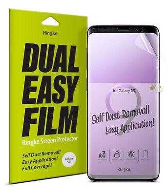 Clear Screen Protector Film (Samsung Galaxy S9 Screen Protector Ringke® [Dual Easy Film] Clear Film [2pcs] )