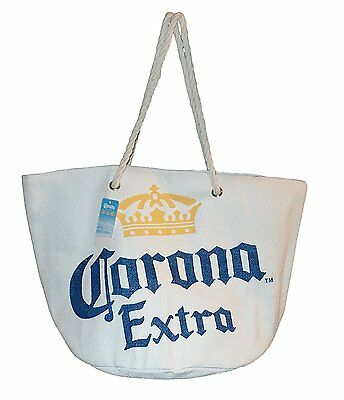 Corona Extra Large Toya Straw Beach Bag White