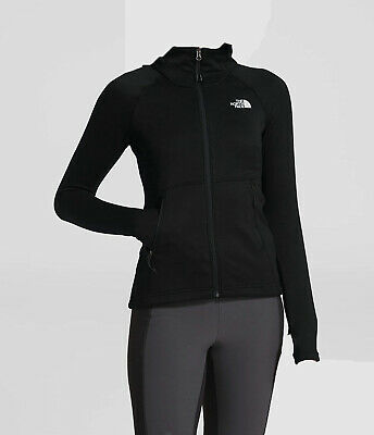$275 The North Face Womens Black Canyonlands Full Zip Fleece Jacket Coat Size XS