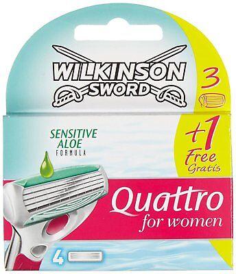 Wilkinson Sword Quattro For Women Sensitive Razor Blades - 4 Pack