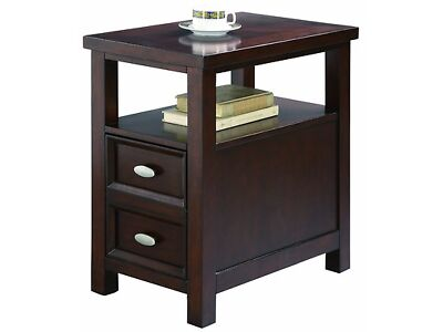 New Queen Mark Dempsey Chairside Table End With Espresso Finish Furniture Wood