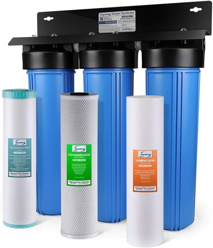 iSpring 3-Stage Whole House Water Filtration System w/ Sediment Filter WGB32BM