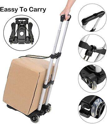 Foldable Hand Truck Dolly Luggage Cart Portable Aluminum Utility Cart W 2wheels