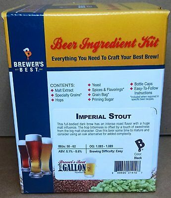 Brewer's Best Imperial Stout One Gallon Home Brew Beer Making Ingredient (Best Home Brew Stout)