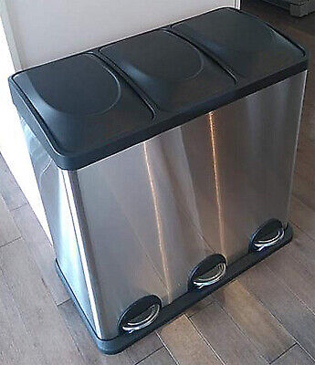 Triple Compartment Trash Can, Modern Design Home Office Trash Can, Smell Proof T Trash Can Odor