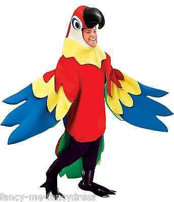 Herren Damen Rainbow Papagei Vogel Pride Fest Piraten Kostüm Kleid Outfit