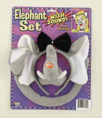 Animal Costume Set Elephant Ears Nose Tail with Sound Effects - Costume Animal Noses