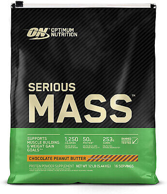 Optimum Nutrition Serious Mass Weight Gain Supplement, Choco