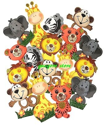 Baby Shower Safari Jungle Animal Party Decorations Foam Favors its a Girl or Boy (Jungle Parties)