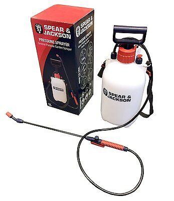 Garden Sprayer Water Hand Pump Pressure, 5L Adjustable Nozzle, Spray Mist
