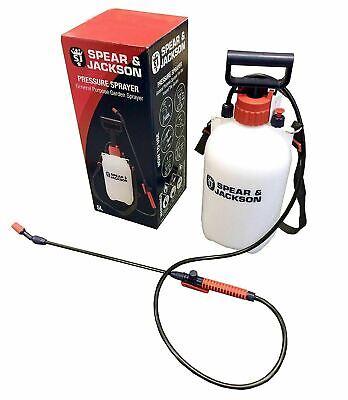 Spear And Jackson Pump Sprayer Garden Action Pressure Plant Spray Bottle 5L