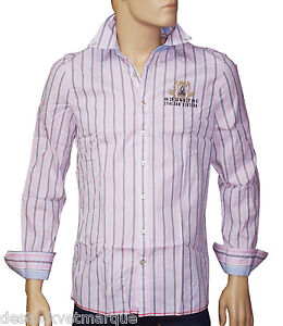 Gaastra chemise rose rayures bleu pale homme vessel bub taille m - Chemise rose pale homme ...