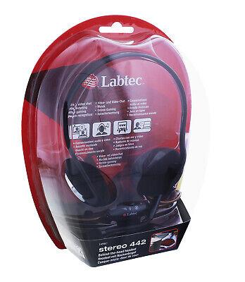 Labtec Stereo 442 Headset mit Nackenbügel Schwarz Kophörer mit Mikrofon 981-0000