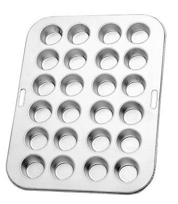 "Norpro Heavy Duty Tin Mini Muffin Cupcake Pan Makes 24 13.75""/35cm Long 3767"