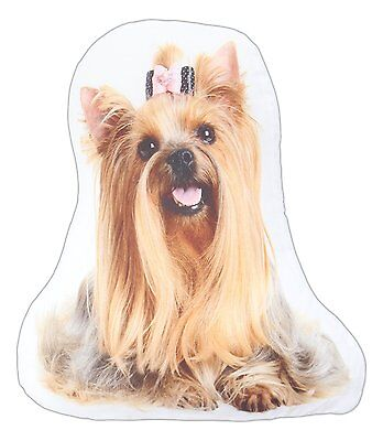 "LONG-HAIRED YORKIE Dog Breed Throw Pillow, 14"" x 8"", by K&K Tabletops"
