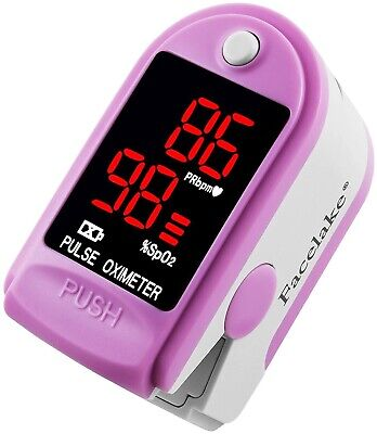 Facelake Fl400 Pulse Oximeter With Carrying Case Batteries Pink