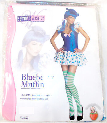 Secret Wishes Strawberry Shortcake Blueberry Muffin Costume Womens XS S M L NIP