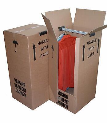 1 X BRAND NEW REMOVAL WARDROBE CARDBOARD MOVING BOX - COMBINE P&P/ HIGH QUALITY