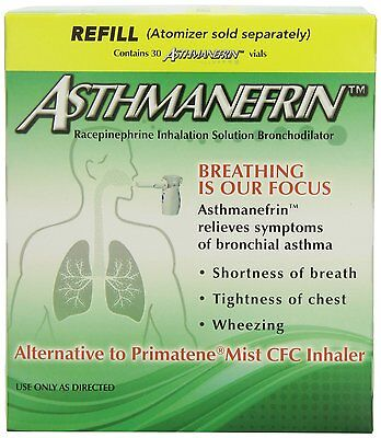 Asthmanefrin Asthma Medication Refill  30 Count  Expiration Date May 2019