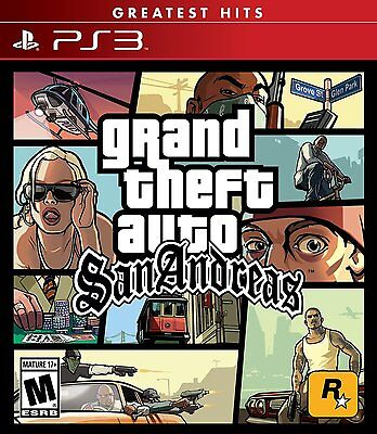 Grand Theft Auto  San Andreas  Playstation 3 Ps3  Greatest Hits  Action  New