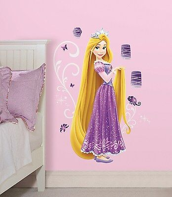 RAPUNZEL GiaNT WALL DECALS Disney Princess Stickers NEW Girls Purple Room (Giant Room Stickers)
