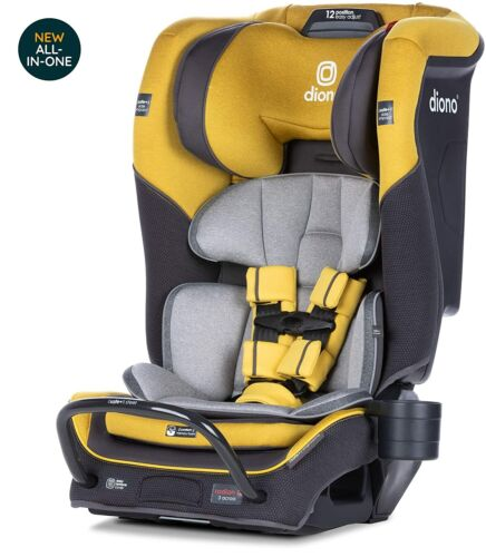 Diono Radian 3QX All-In-One Booster Child Safety Car Seat Yellow Mineral NEW