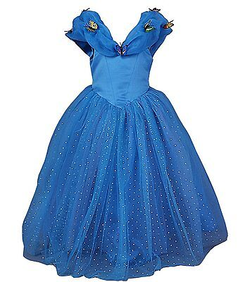Princess Butterfly Costume (Cinderella Dress Costume Princess Dress Girls Cosplay Party Gown Butterfly)