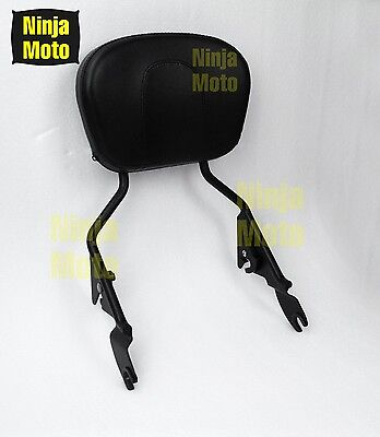 Black Sissy Bar Upright Passenger Backrest for Harley Street Glide 2009-2017